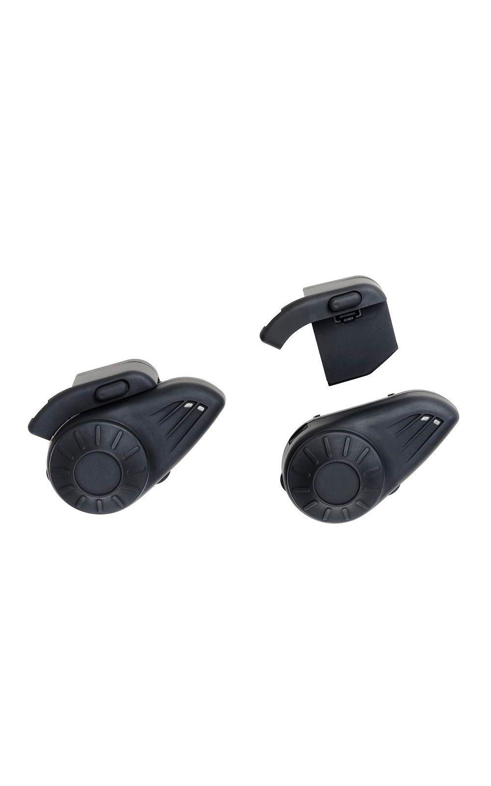Foto 1 - Par de Intercomunicador para Capacete com Bluetooth Alcance até 10m para Musica e Ligação Preto Multilaser - MT605