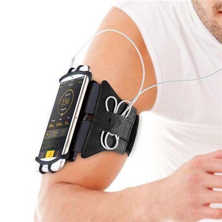 Braçadeira Para Smartphone 4-6 Pol Rotação 180° Preta Atrio - ES180