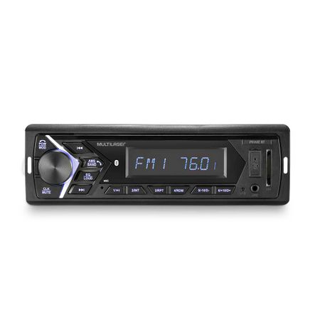 Som Automotivo Multilaser Prime 1 Din Bluetooth LCD 4x45W RMS  - P3337
