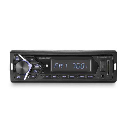 Som Automotivo Multilaser Prime 1 Din Bluetooth MP3 LCD 4x45WRMS FM Entrada...
