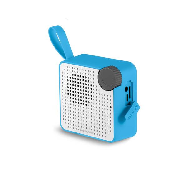 Caixa de Som Mini Bluetooth Speaker 5W Azul Multilaser - SP312