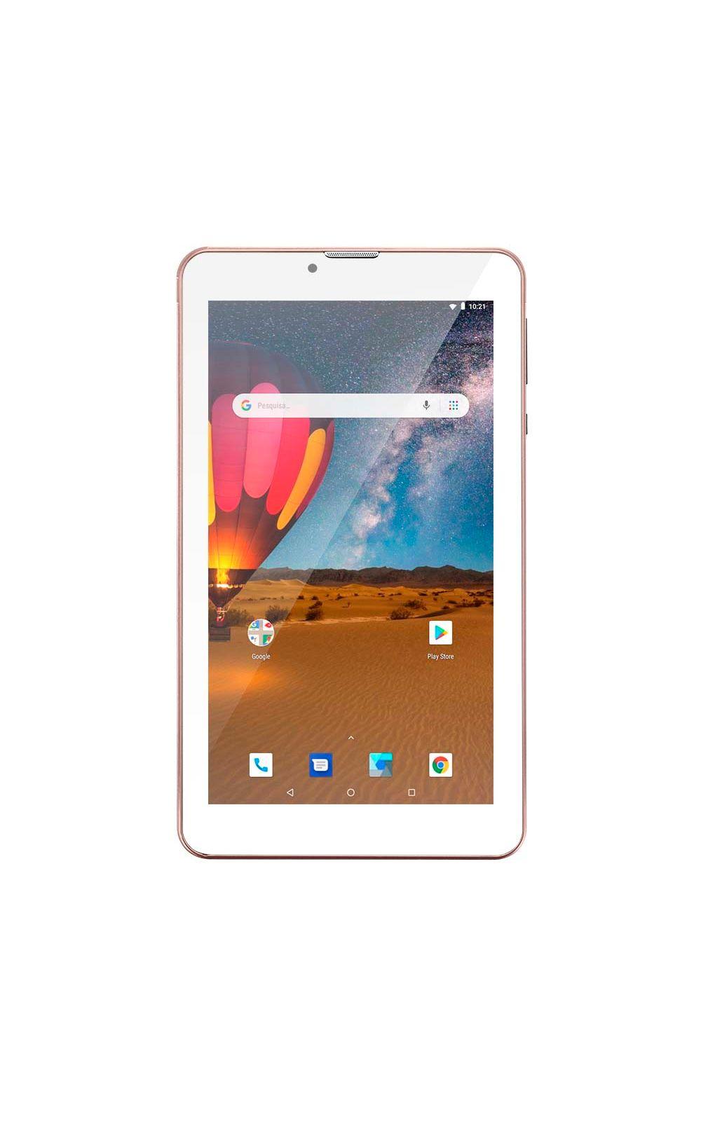 Foto 1 - Tablet Multilaser M7 3G Plus Dual Chip Quad Core 1 GB de Ram Memória 16 GB Tela 7 Polegadas Rosa - NB305