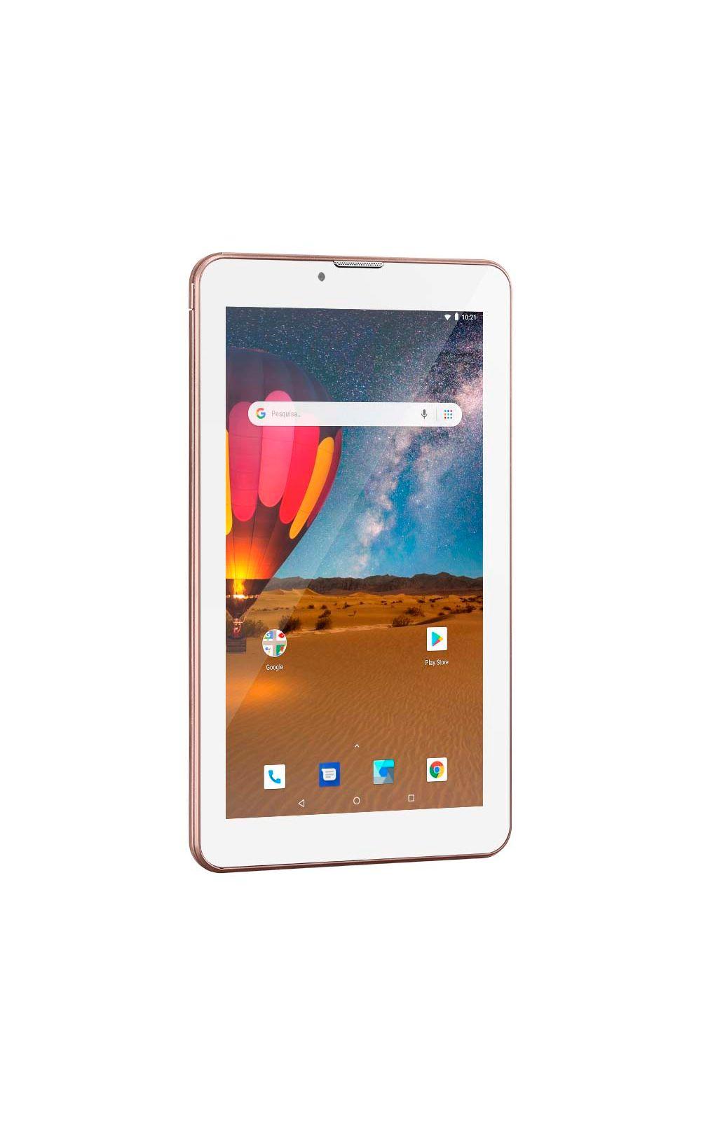 Foto 2 - Tablet Multilaser M7 3G Plus Dual Chip Quad Core 1 GB de Ram Memória 16 GB Tela 7 Polegadas Rosa - NB305