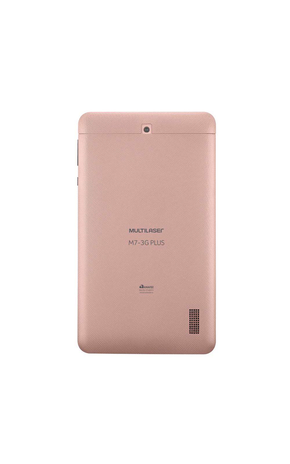 Foto 4 - Tablet Multilaser M7 3G Plus Dual Chip Quad Core 1 GB de Ram Memória 16 GB Tela 7 Polegadas Rosa - NB305