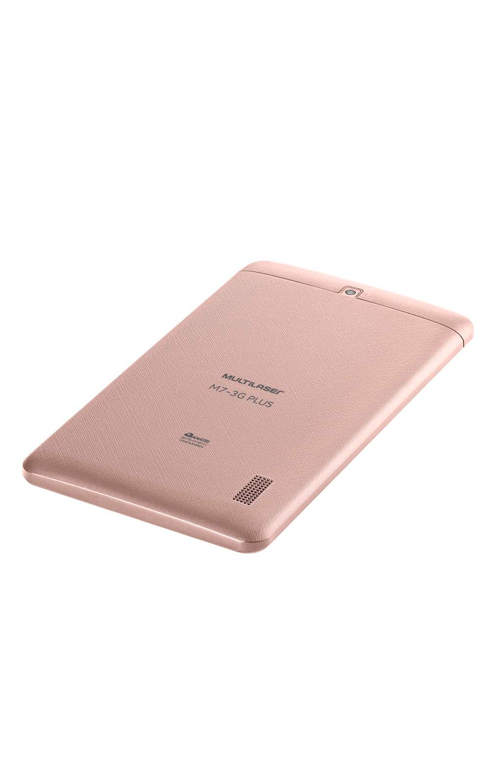 Foto 5 - Tablet Multilaser M7 3G Plus Dual Chip Quad Core 1 GB de Ram Memória 16 GB Tela 7 Polegadas Rosa - NB305