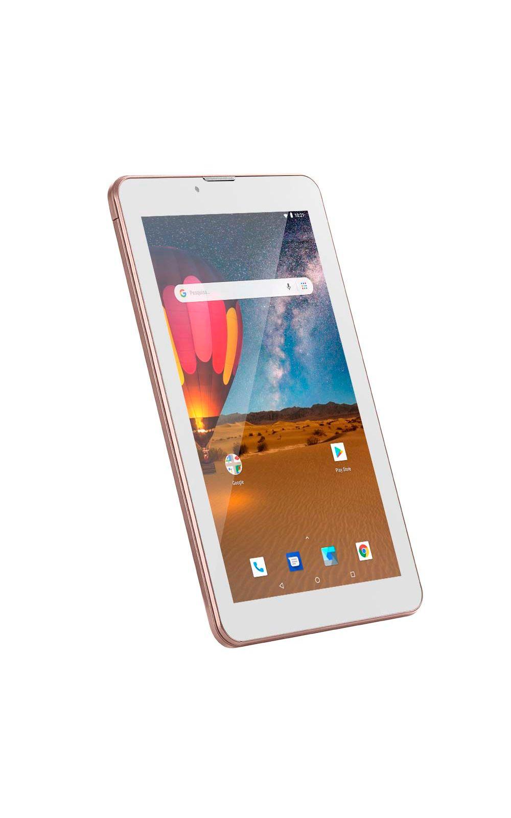 Foto 7 - Tablet Multilaser M7 3G Plus Dual Chip Quad Core 1 GB de Ram Memória 16 GB Tela 7 Polegadas Rosa - NB305