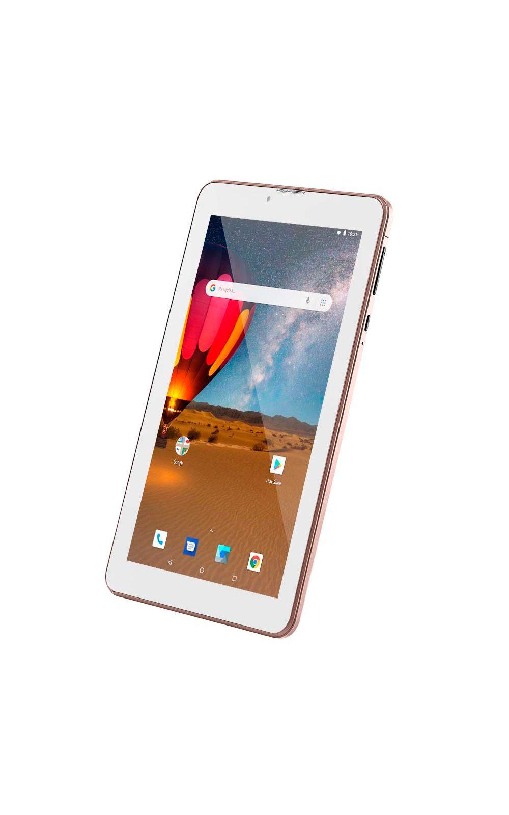 Foto 8 - Tablet Multilaser M7 3G Plus Dual Chip Quad Core 1 GB de Ram Memória 16 GB Tela 7 Polegadas Rosa - NB305
