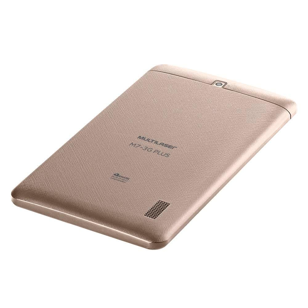 93ecd01056 Tablet Multilaser M7 3G Plus Dual Chip Quad Core 1 GB de Ram Memória 16 GB  Tela 7 Polegadas Dourado - NB306 - multilaser