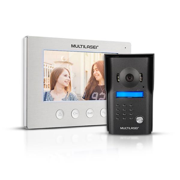 Kit vídeo porteiro colorido 7 polegadas c/ unidade externa - Multilaser - SE406