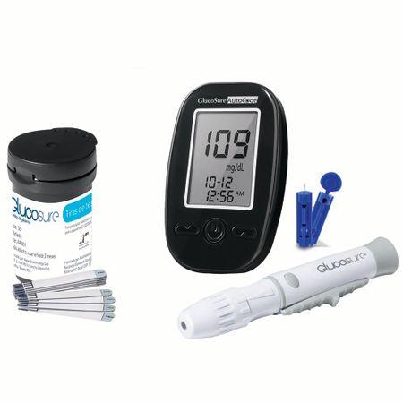 Kit de 100 Tiras de Glicemia + Monitor de Glicemia GLUCOSURE Auto Code +...