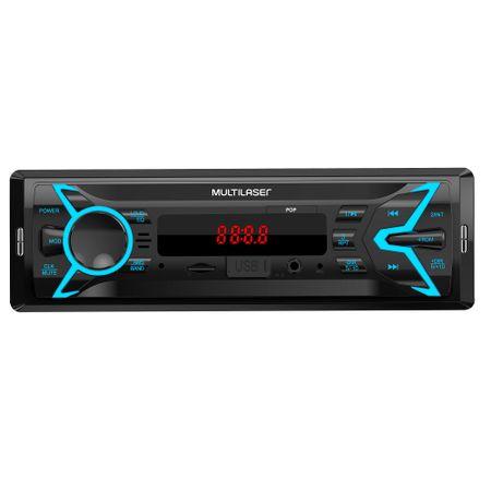 Som Automotivo Multilaser Pop 1 Din MP3 4x25W RMS Rádio FM + Entrada microSD +...