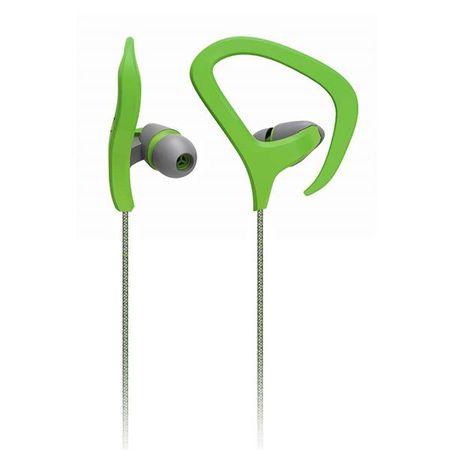 Fone de Ouvido Auricular Fitness com Microfone e Gancho de Silicone Verde...