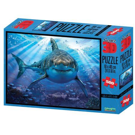 Quebra Cabeça Super 3D Modelo Tubarão com 500 Peças Multikids - BR1054