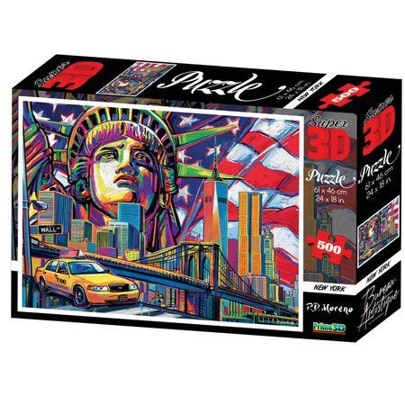 Quebra Cabeça Super 3D Modelo New York City com 500 Peças Multikids - BR1055