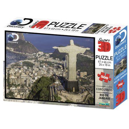 Quebra Cabeça Super 3D Modelo Corcovado Rio de Janeiro com 500 Peças Multikids...