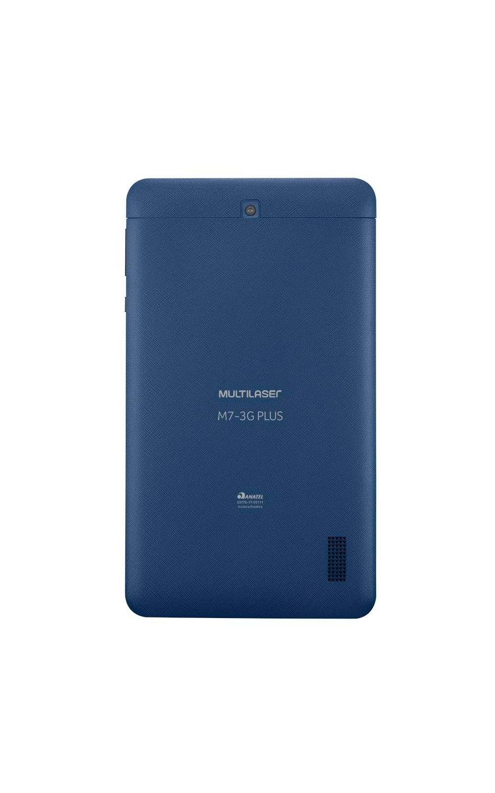 Foto 4 - Tablet Multilaser M7 3G Plus 1GB 8GB Quad Core Dual Câmera Tela 7 Dual Chip Azul - NB270
