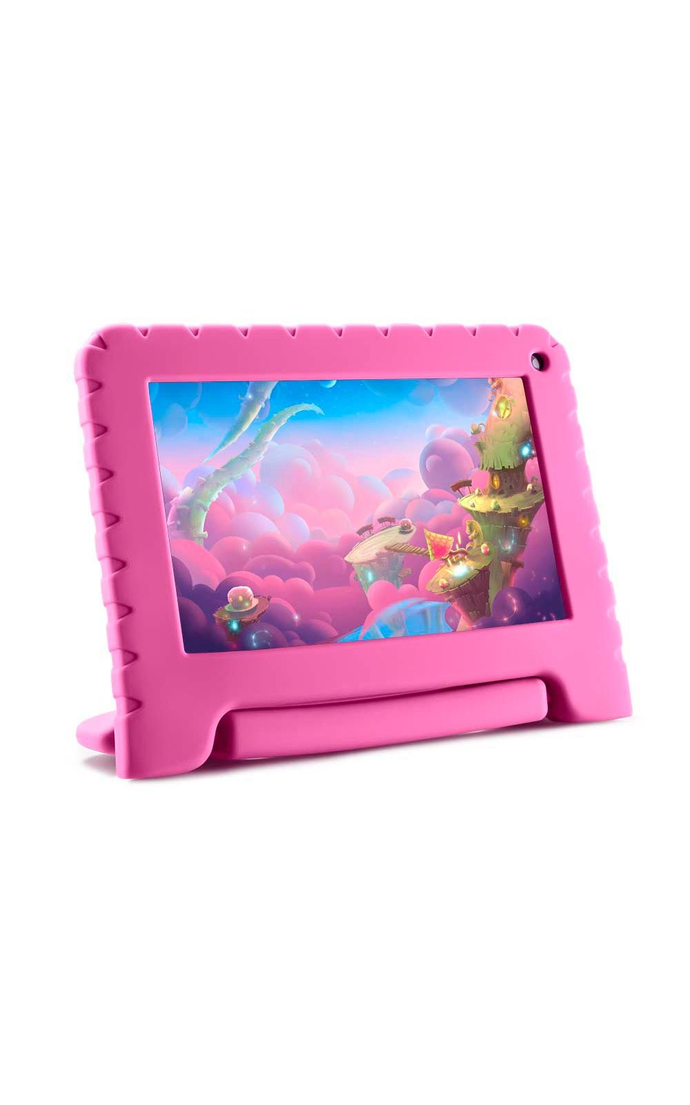 Foto 1 - Tablet Kid Pad Lite Multilaser 7 Pol. 16GB Quad Core Android 8.1 Rosa - NB303