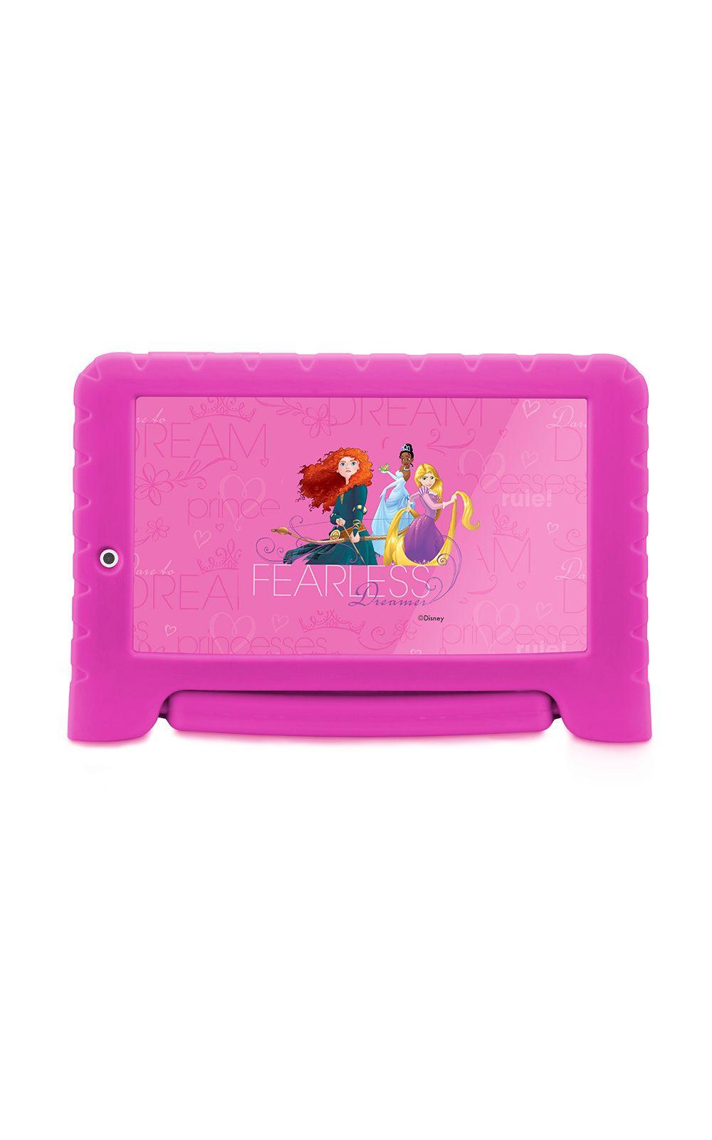 Foto 1 - Tablet Multilaser Disney Princesas Plus 16GB Tela 7 Pol. Quad Core Dual Câmera Rosa- NB308