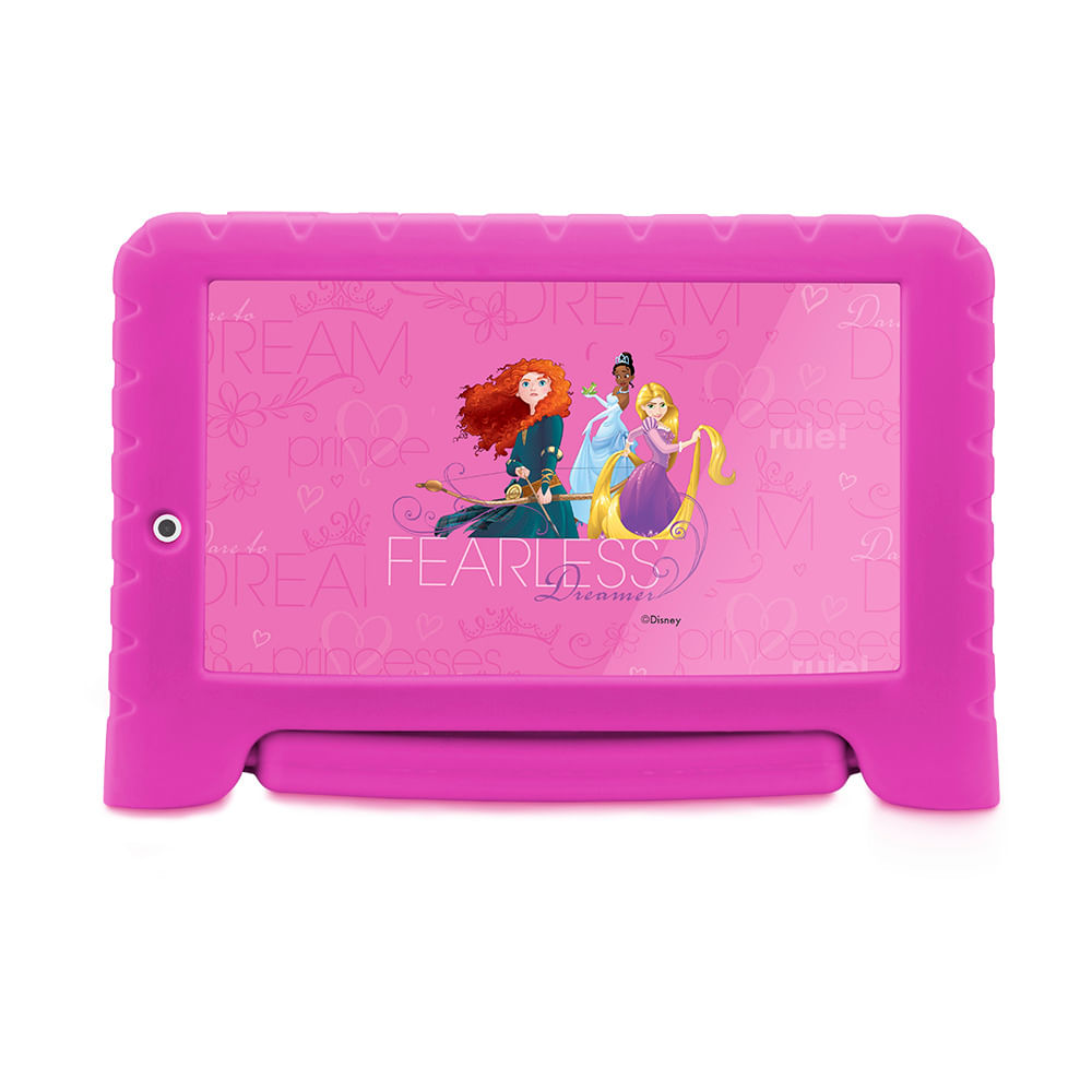 Tablet Multilaser Disney Princesas Plus 16GB Tela 7 Pol. Quad Core Dual Câmera Rosa- NB308