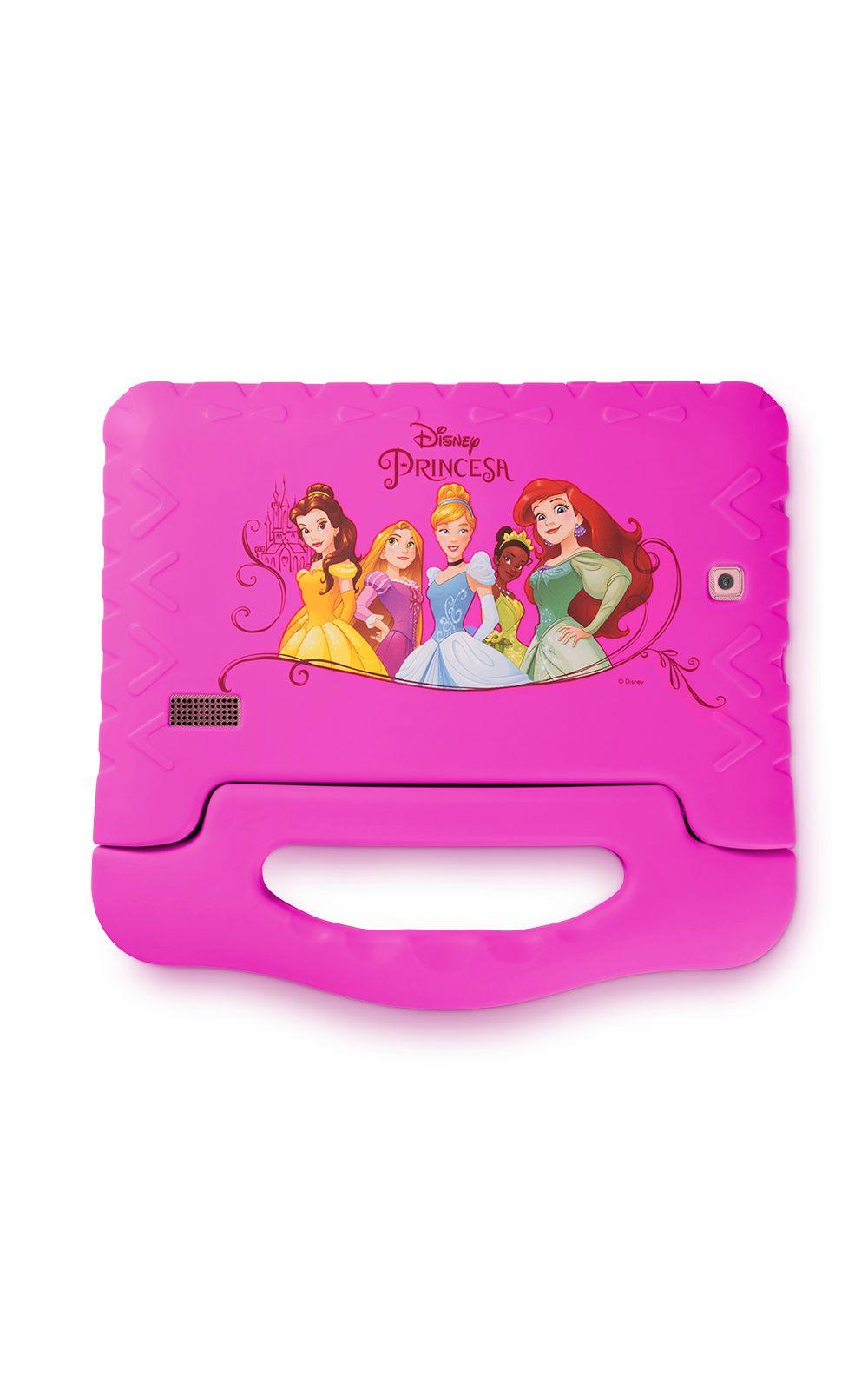 Foto 2 - Tablet Multilaser Disney Princesas Plus 16GB Tela 7 Pol. Quad Core Dual Câmera Rosa- NB308