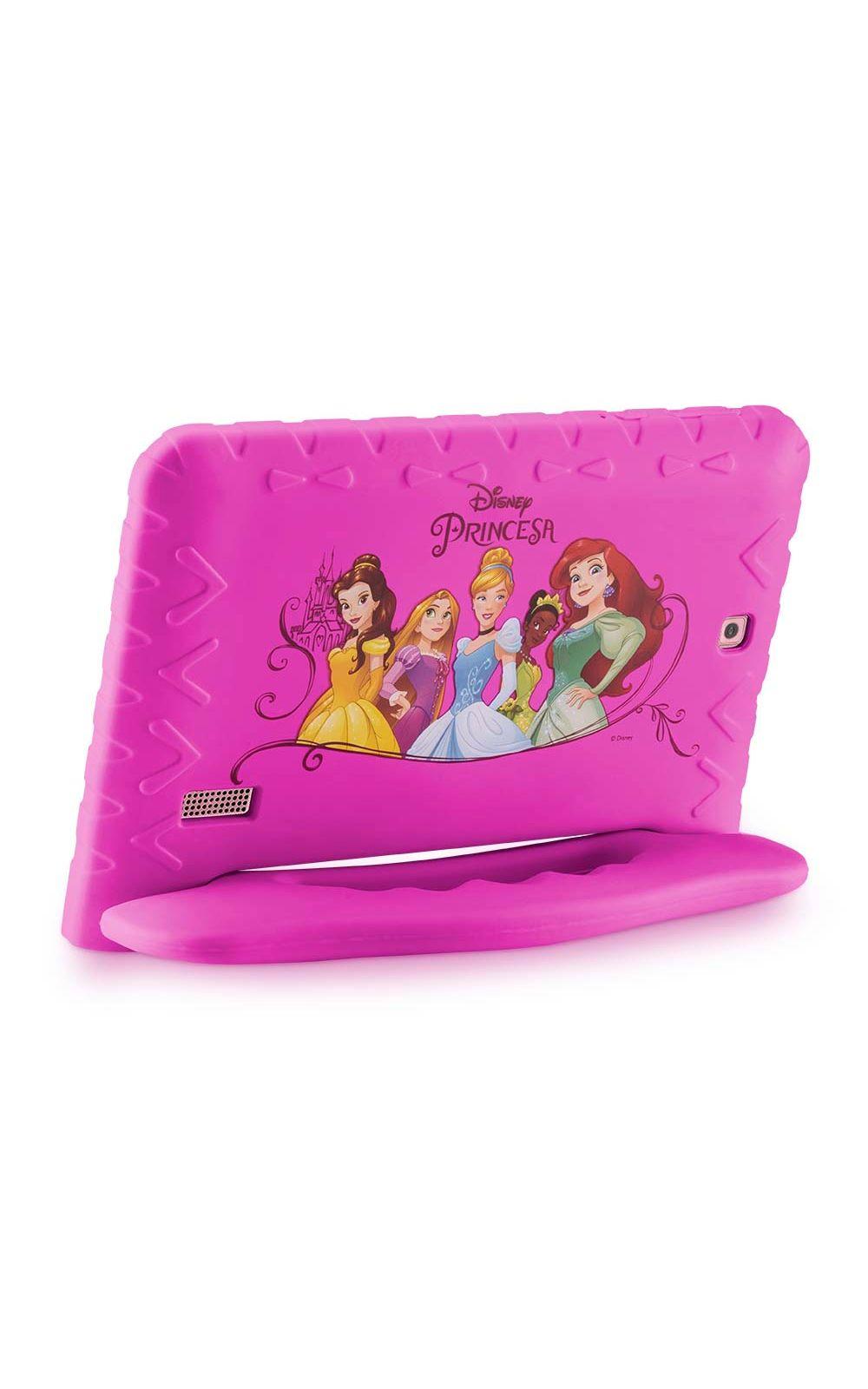 Foto 3 - Tablet Multilaser Disney Princesas Plus 16GB Tela 7 Pol. Quad Core Dual Câmera Rosa- NB308