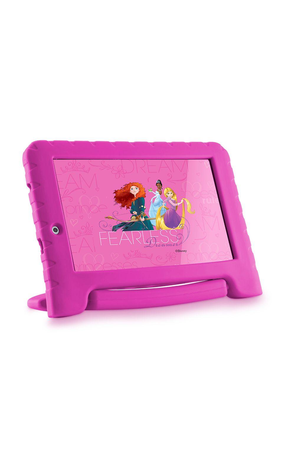 Foto 4 - Tablet Multilaser Disney Princesas Plus 16GB Tela 7 Pol. Quad Core Dual Câmera Rosa- NB308