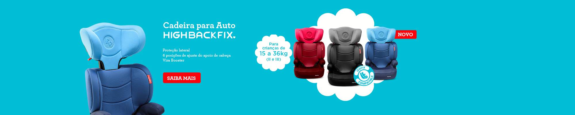 Cadeira para auto highback - 2000x400
