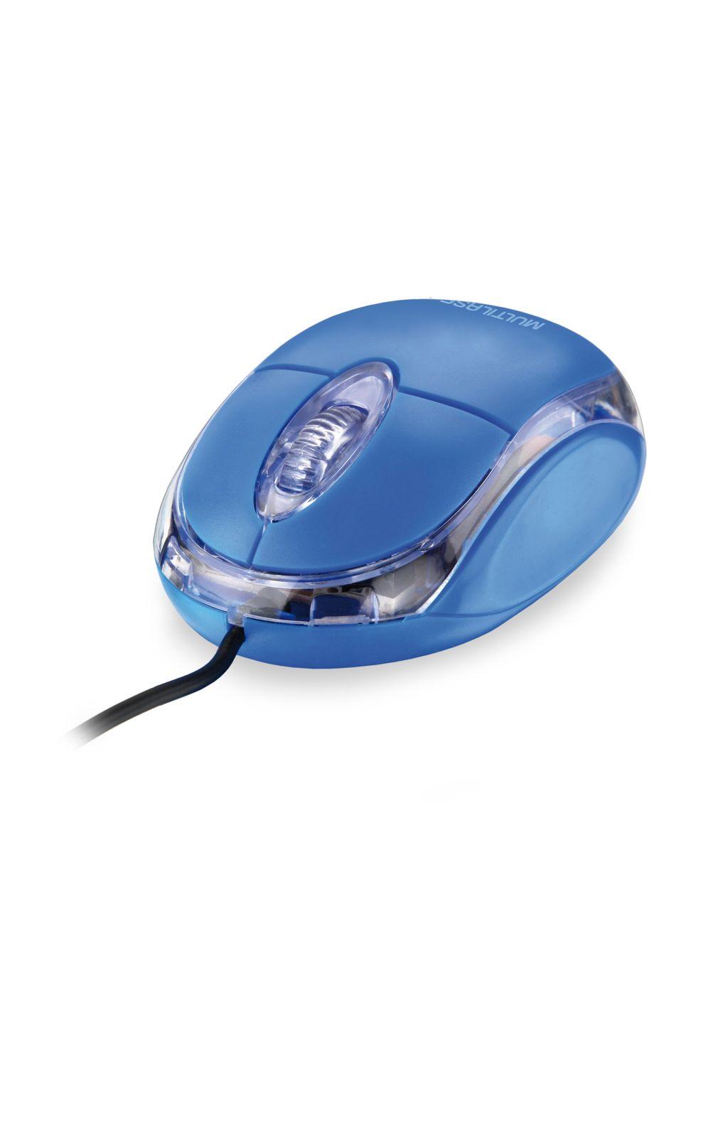 Foto 1 - Mouse Classic 800Dpi Usb Azul MO001