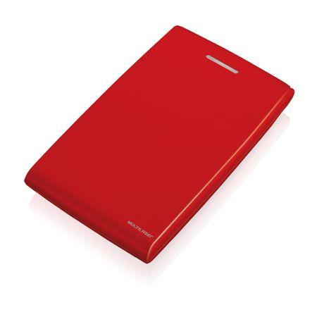 Case De Hd 25 Sata Vermelho Usb 2.0 Multilaser - GA116
