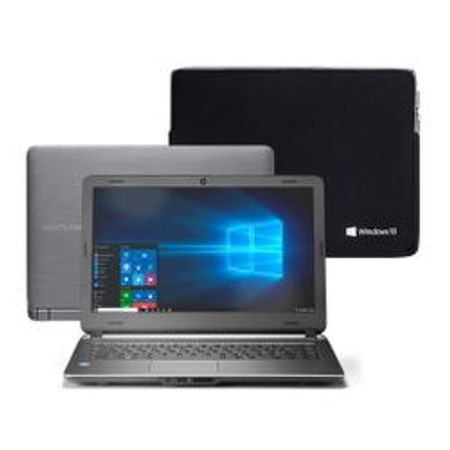 "Notebook Multilaser Urban Intel Core i3 4GB 120GB SSD 14"" Windows 10 + Case..."