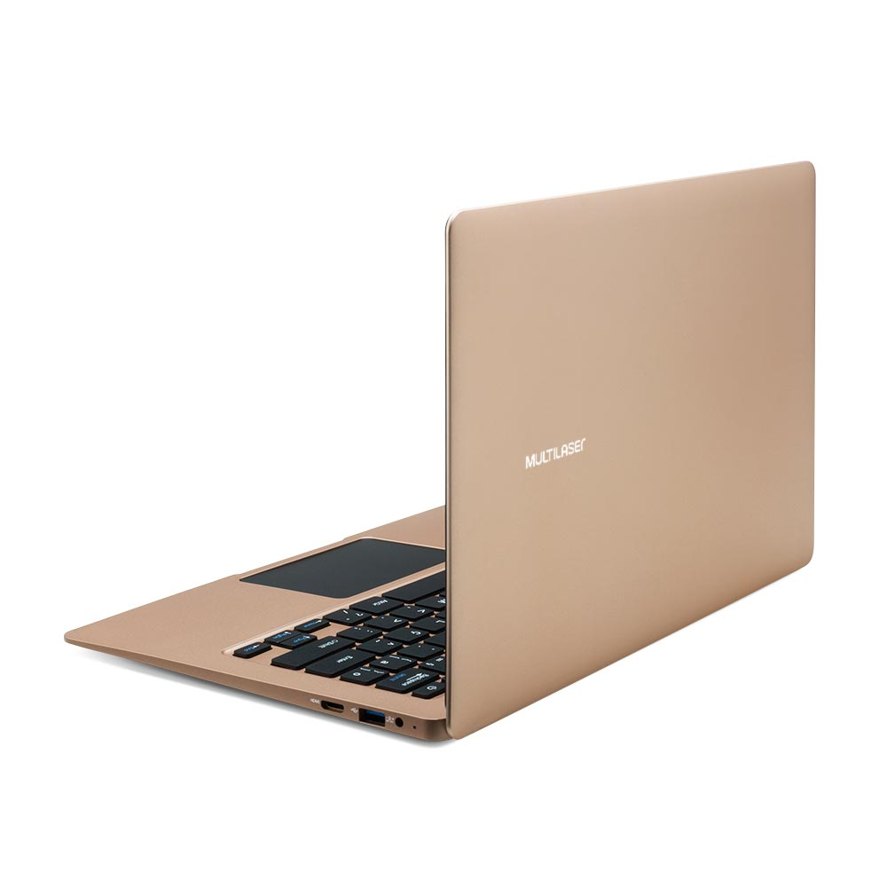 Notebook Multilaser Legacy Air Intel Celeron 4GB 64GB 13.3 Pol. Full HD Windows 10 Dourado - PC223