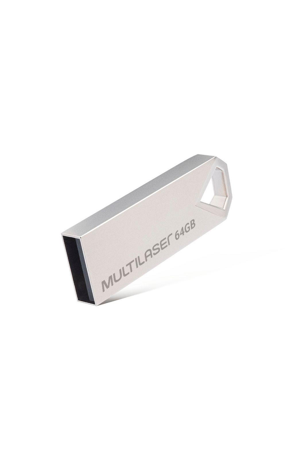 Foto 2 - Pendrive Multilaser Diamond 64GB USB 2.0 Metálico - PD852