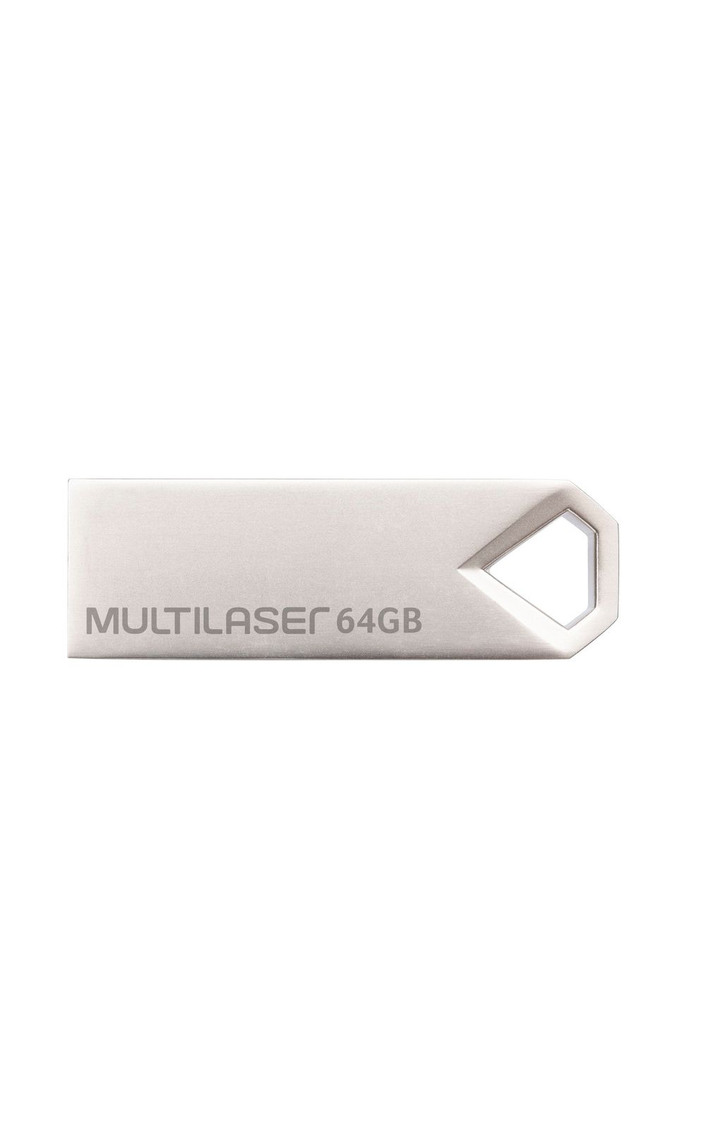 Foto 3 - Pendrive Multilaser Diamond 64GB USB 2.0 Metálico - PD852