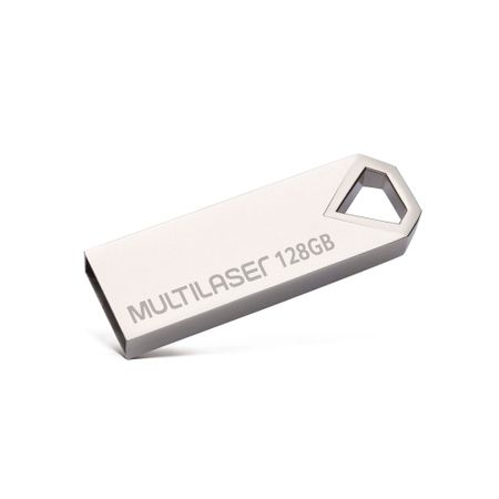 Pen drive Multilaser Diamond 128GB USB 2.0 Metálico - PD853