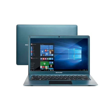 Notebook Multilaser Legacy Air Intel Celeron 4GB 64GB 13.3 Pol. Full HD Windows...