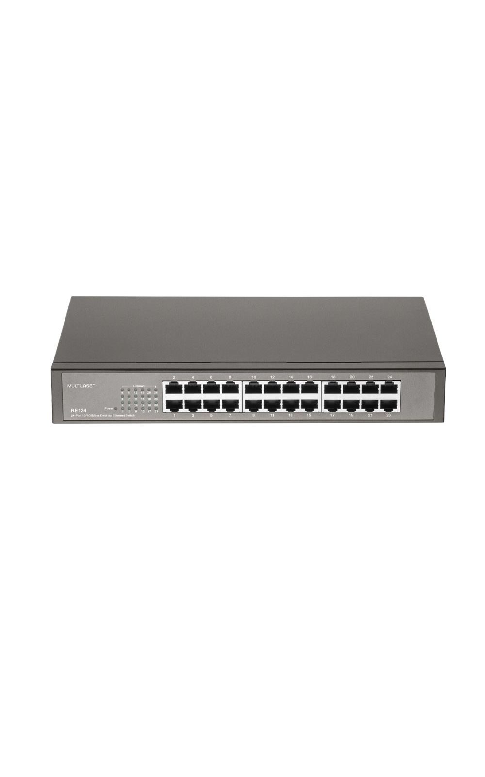 Foto 3 - Switch 24 Portas Fast Ethernet Qos Multilaser - RE124