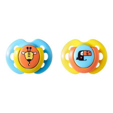 Chupeta Fun Style Tommee Tippee 2 Und 0-6M - Azul com Amarelo - TT001