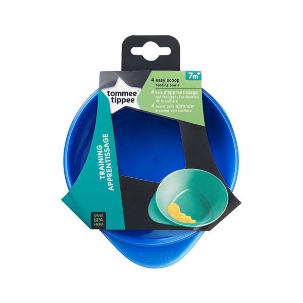 Kit 4 Pratos Fundos Easy Scoop Tommee Tippee Verde com Azul- TT041