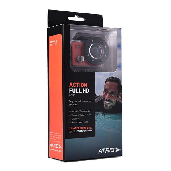 Câmera De Ação Action Full Hd 1080P - Tela Lcd 2Pol - 12Mp 30 Fps 450 Mah - DC190