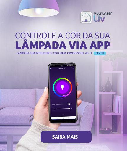 Lâmpada Inteligente | Campanha Liv SE224 | Banner Campanha Segurança | home-master-mobile
