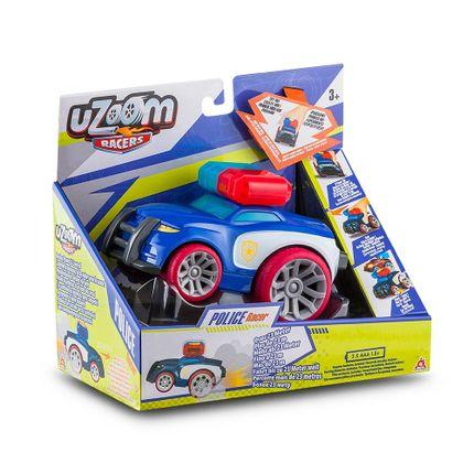 Carrinho de Fricção Uzoom Polícia Sport Racer Azul Multikids - BR1173 BR1173