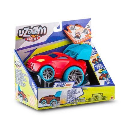 Carrinho de Fricção Uzoom Sport Racer Vermelho Multikids - BR1171 BR1171