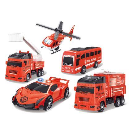 Veículos Play Machine Set Bombeiros Vermelho Multikids - BR1283 BR1283